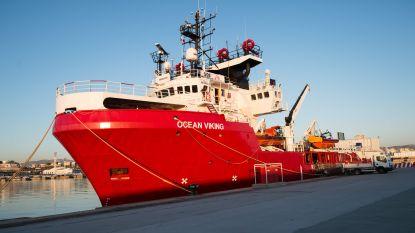 Ocean Viking redt voor het eerst bootvluchtelingen voor de kust van Libië