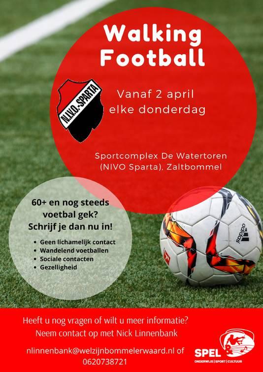 NIVO-Sparta is begonnen met de werving van spelers voor Walking football