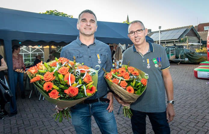 Lintje voor Evert de Gendt (L) en Rini Willemse