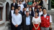 Chinese scholieren komen op bezoek in Temse