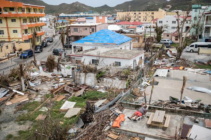 Sint Maarten na orkaan Irma.