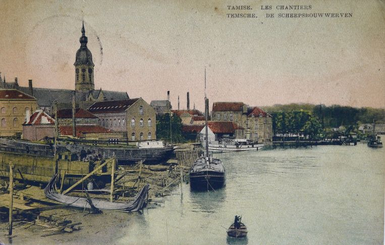 Ingekleurde postkaart uit 1910, uit de collectie van Frank de Cuyper.
