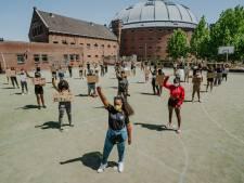 Bredaas protest bij de Koepel tegen Amerikaans politiegeweld, mét 1,5 meter afstand