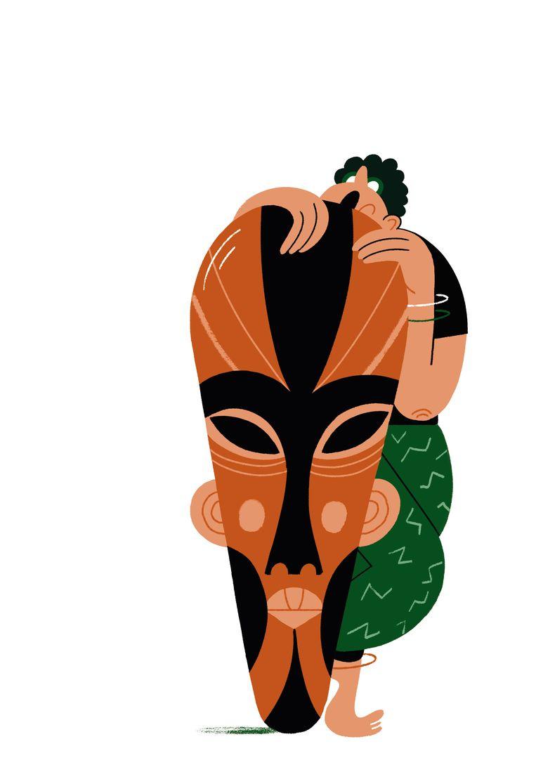 Afrikaanse Studies, dat doet Rhiannon Buyens. 'Echt waar, ik kan nog alle kanten op, dat heb ik ook goed nagekeken voor ik hier aan begon.' Beeld Joren Joshua