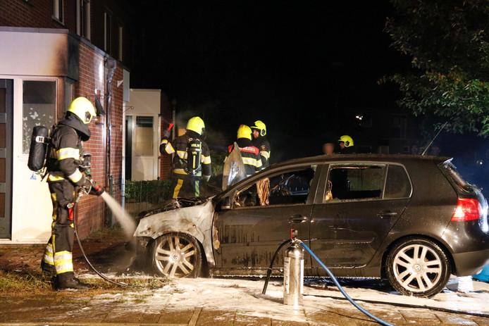 Autobranden in Mook.