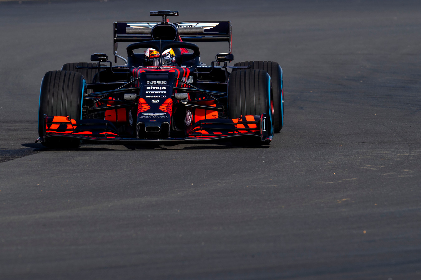 Max Verstappen in de Red Bull