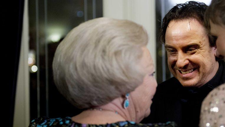 Marco Borsato ontmoet Koningin Beatrix. Beeld anp