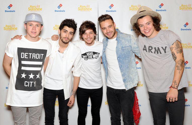 Niall Horan, Zayn Malik, Louis Tomlinson, Liam Payne en Harry Styles.