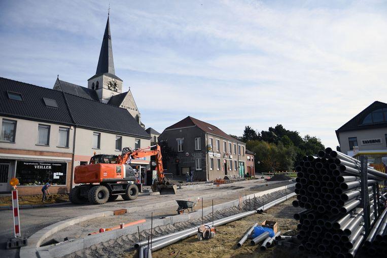 Illustratie: wegenwerken in Huldenberg.
