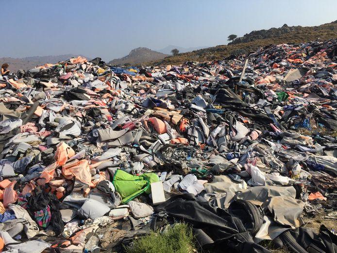Afvalberg op Lesbos