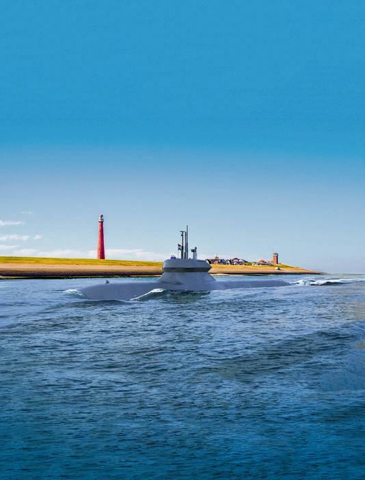 Nederland wil nieuwe onderzeeërs laten bouwen. Deze boot van Damen Shipyards is één van de kandidaten.