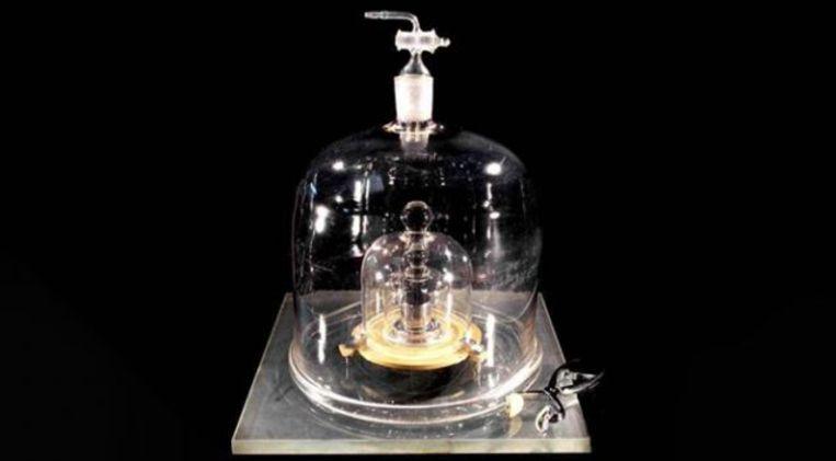 Le Grand K, de kilo die als maatstaf geldt voor alle andere kilogrammen ter wereld.