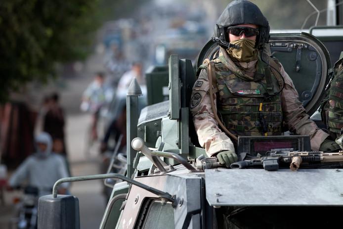 Nederlandse militairen in de stad Kunduz, Afghanistan.