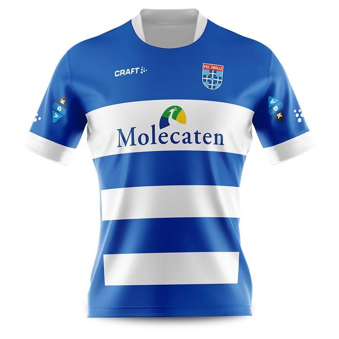 Het nieuwe thuisshirt van PEC Zwolle.