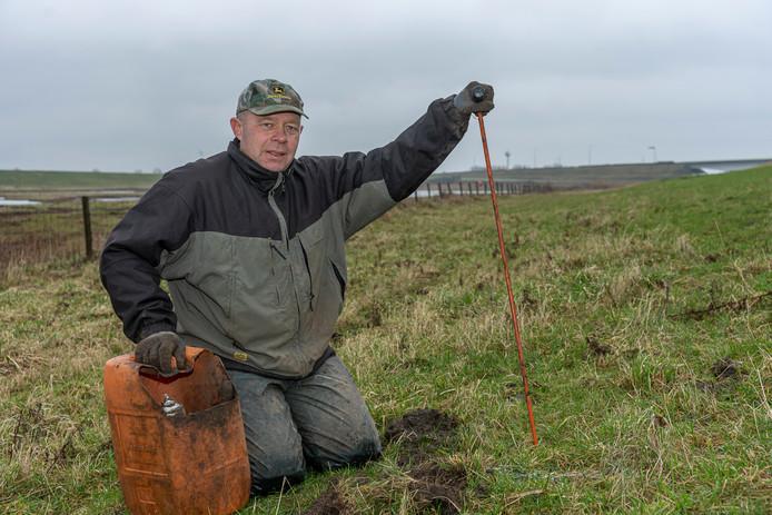 Aart Koppert vangt jaarlijks zo'n 1500 mollen.