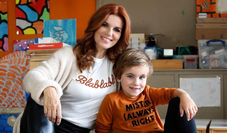Katja Retsin en haar zoontje Matisse.