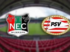 LIVE: Wel kansen, geen doelpunten bij wedstrijd NEC tegen Jong PSV