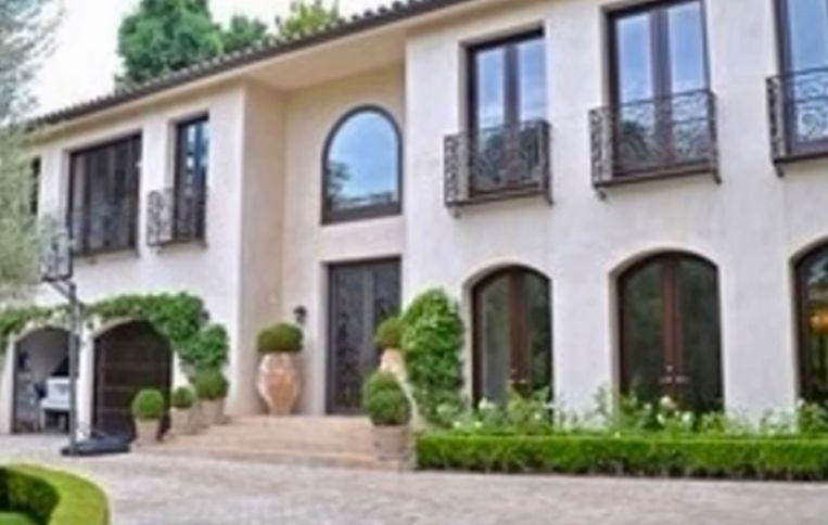 Het huis van Justin en Haily in Beverly Hills.