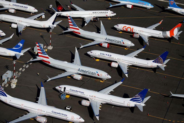De 737 MAX-vloot staat sinds midden maart wereldwijd aan de grond.