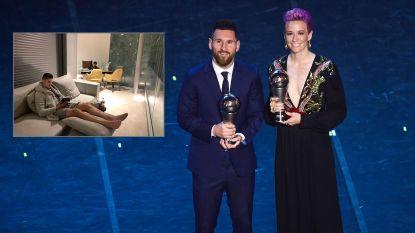 Ook dit waren de FIFA-awards: Ronaldo stuurt zijn kat, Rapinoe maakt statement en Mourinho zorgt voor hilariteit