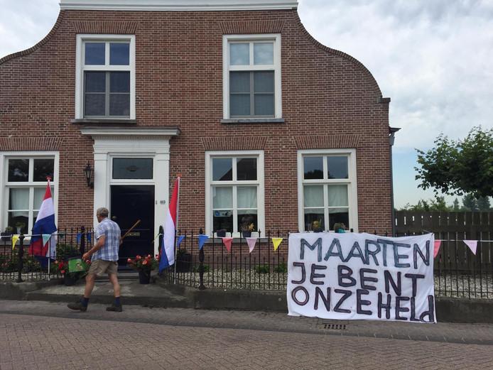 In zijn woonplaats Waspik zijn ze ook blij dat de missie van Maarten is geslaagd.
