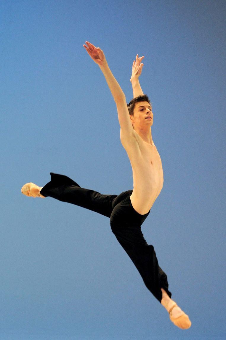Edo Wijnen als 16-jarige dansstudent in 2009.