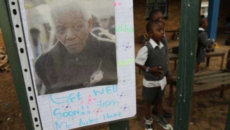 Steunbetuiging voor Nelson Mandela. Foto EPA Beeld