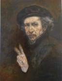 Hanneke Nijboer uit Tilburg is een van de geselecteerden met haar werk, een zelfportret van Rembrandt.