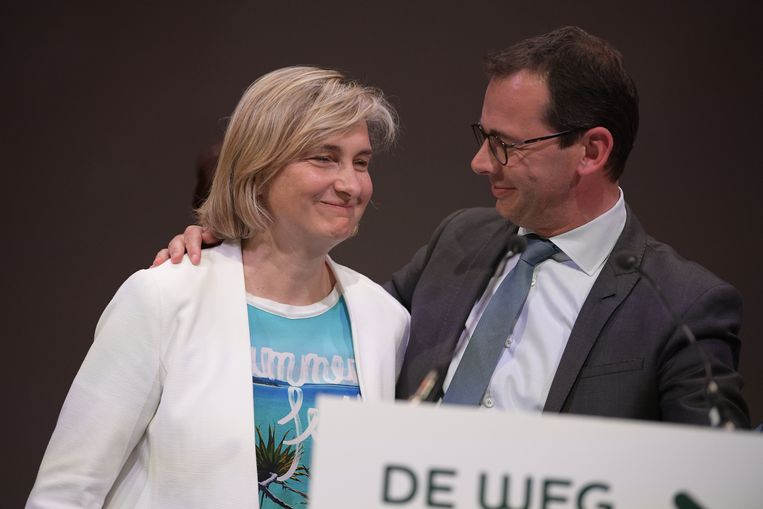 Hilde Crevits en Wouter Beke (CD&V).