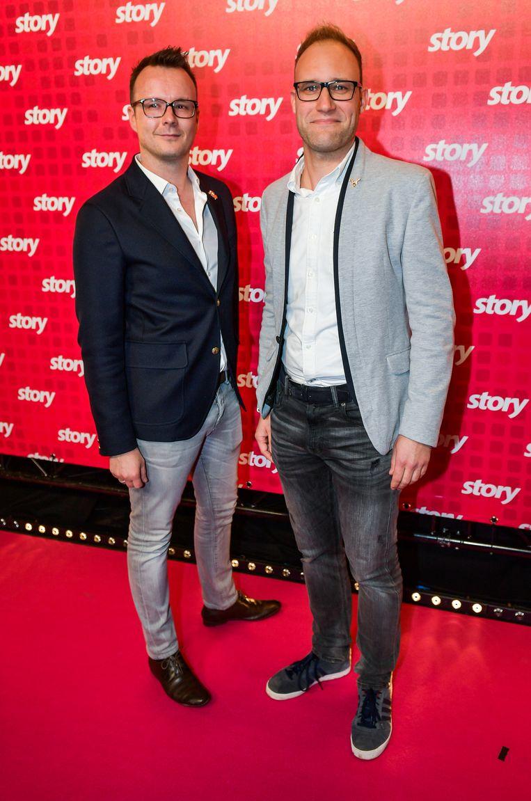 Yann Cools en partner Christof van 'Alloo bij de Wegpolitie'