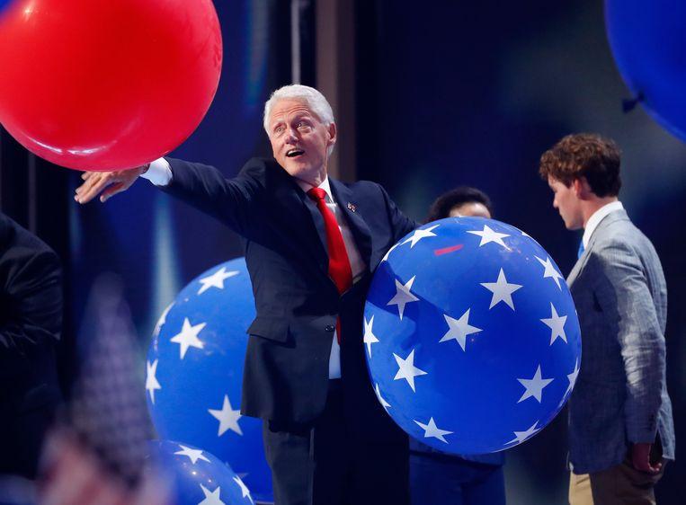Bill Clinton in 2016. De man van Hillary had alle tijd om een boek te schrijven. Beeld Getty Images
