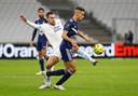 Kevin Strootman kwam als invaller bij Olympique Marseille binnen de lijnen.