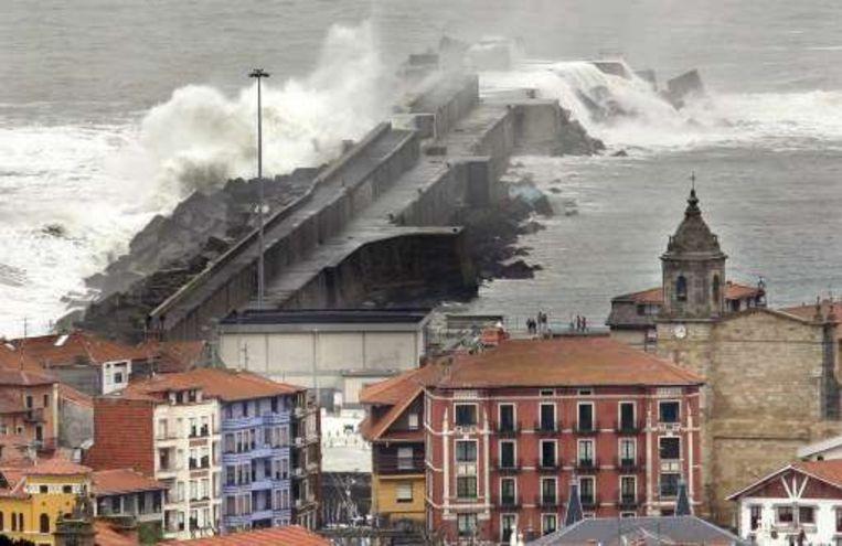 Bilbao (Spanje) kreeg het vandaag al flink te verduren.
