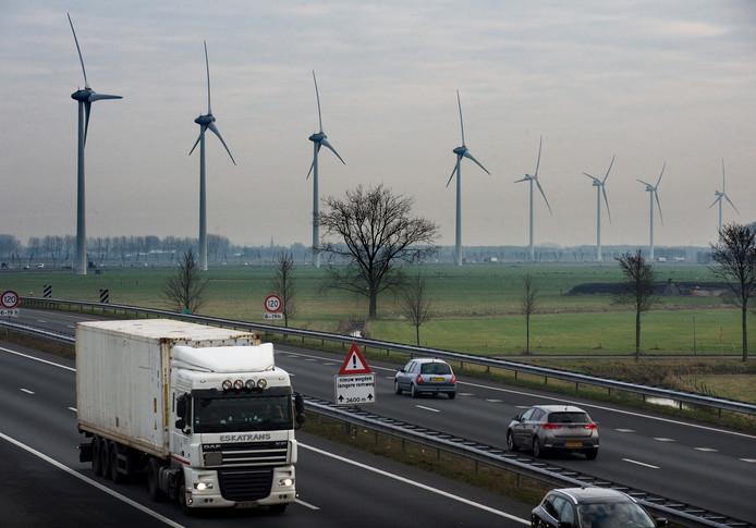 De A15 bij Echteld op archiefbeeld.