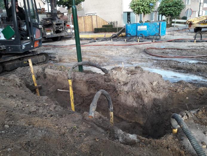 De wijk De Elst had door een losgetrokken kabel op 18 oktober met een stroomstoring te kampen.