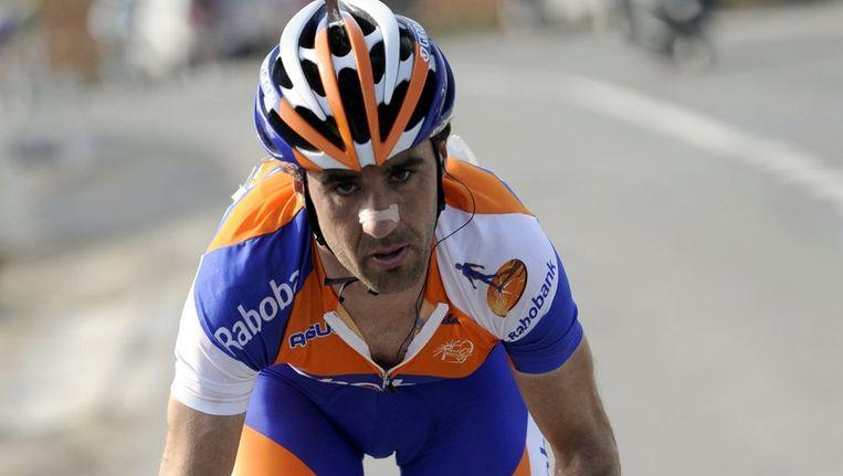 De Spanjaard Carlos Barredo van de Rabobankploeg moet zich bij de internationale wielerunie verantwoorden voor afwijkende waarden in zijn bloed. Hij is in staat van beschuldiging gesteld. Beeld ANP