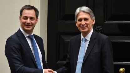 De Croo ziet risico op harde brexit slinken