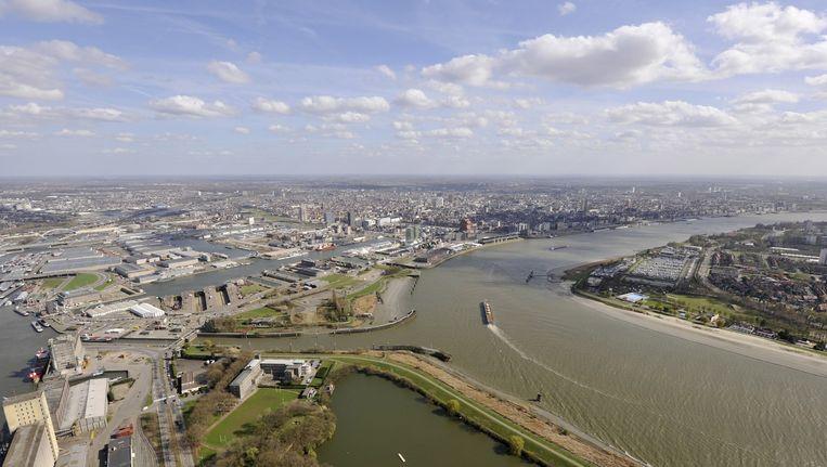 Luchtfoto van de haven van Antwerpen. (Archieffoto)