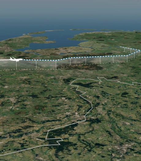 Kijk hier hoe hoog (of laag) vliegtuigen van Lelystad Airport over jouw huis komen
