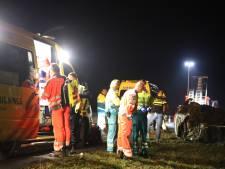 Bestuurder gewond bij ongeluk A15; politie zoekt tevergeefs met hond en heli naar 'spookpassagiers'