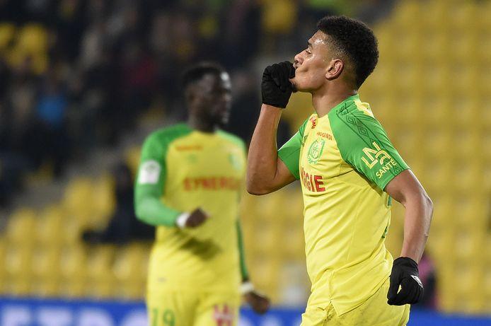 Santy Ngom in het shirt van Nantes.