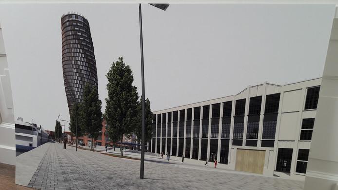 Artist's impression van de  Zeelandtoren in het Scheldekwartier.