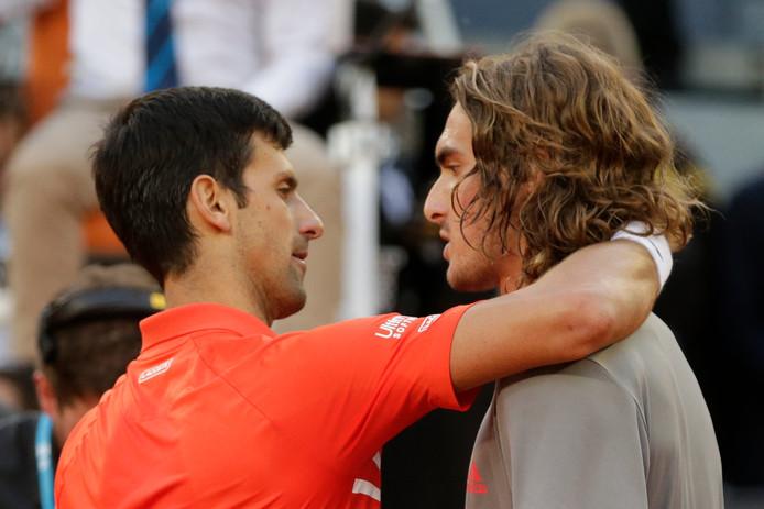Novak Djokovic en Stefanos Tsitsipas.