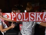 Meejuichen met: Poolse supporters in Boskoop