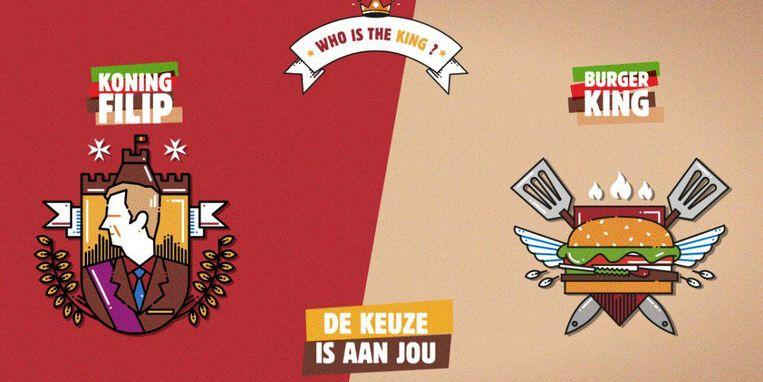 De reclame van Burger King. Beeld .