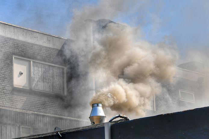Café rookt uit aan de Sint Antoniusstraat in Valkenswaard.