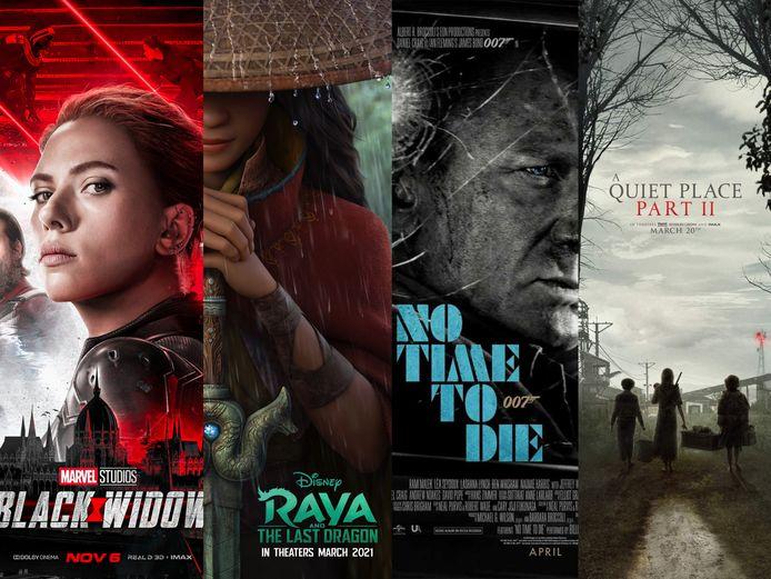 Een greep uit de filmtitels van 2021.