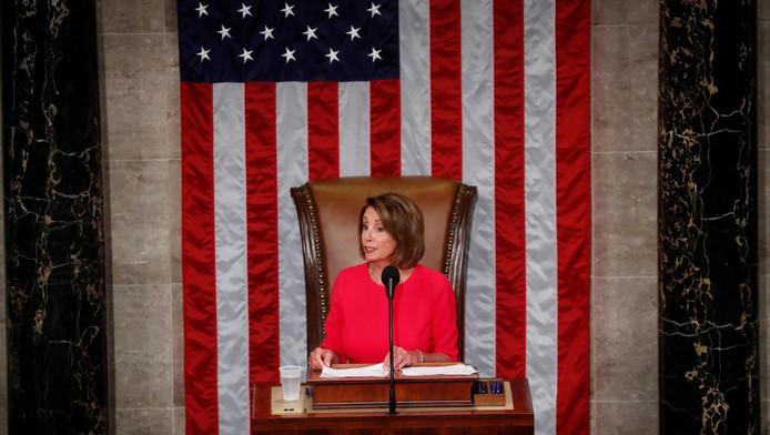 Nancy Pelosi (Parti démocrate), nouvelle présidente de la Chambre des représentants