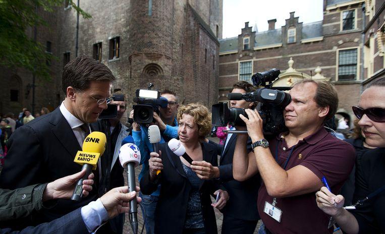 Mark Rutte op het Binnenhof. Beeld anp