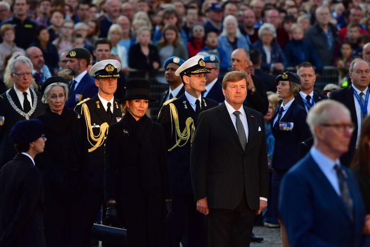 Ook koning Willem-Alexander en koningin Maxima namen aan de Dodenherdenking deel.